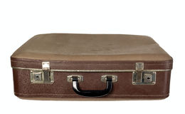 Antique brown trunk Royalty Free Stock Image