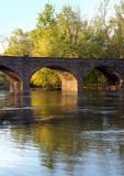 Antique Brownstone Arched Bridge Royalty Free Stock Photos