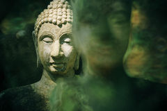 Antique buddha image statue Stock Images