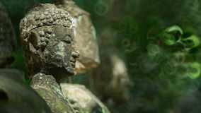 Antique buddha image statue Royalty Free Stock Photos