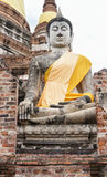 Antique buddha statue Royalty Free Stock Photo