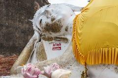 Antique buddha statue Stock Images