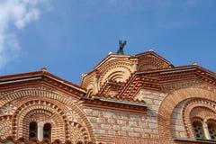 Antique Building. Ohrid lake Plavushnik stock photography