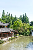 Antique building along Qinghuai river Stock Photos