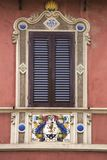 Deruta, perugia, umbria, italy, europe. Antique building antique window of the town of deruta, province of perugia, umbria, italy Stock Image
