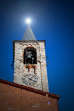 antique  building  clock tower in italy europe old  stone and be Royalty Free Stock Image