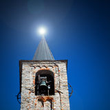 antique  building  clock tower in italy europe old  stone and be Royalty Free Stock Photos