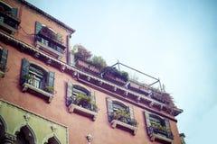 Antique building facade in Venice Stock Photo