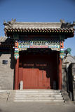 The antique building gate building. Chinese antique building gate building Royalty Free Stock Image