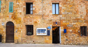 Antique building shop of Monteriggioni royalty free stock photo