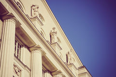 Antique building with statues and columns in Czech republic Brno Stock Photography