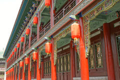 Antique buildings. In Taiyuan Yingze park,Shanxi province,China Royalty Free Stock Photography