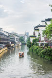 Antique buildings along Qinhuaihe river royalty free stock photography