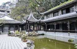Antique buildings and gardens in Wanzhou Royalty Free Stock Images