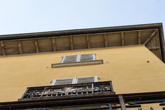 Antique buildings in side street #4. Salsomaggiore Royalty Free Stock Photography