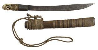 An antique Burmese dha sword Royalty Free Stock Photos