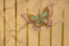 Antique Butterfly Background Royalty Free Stock Photos