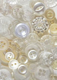 Antique Button Background. A selection of antique buttons stock images