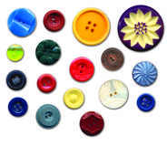 Antique buttons Stock Images