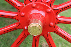 Antique cadillac model wheel hub detail Royalty Free Stock Image