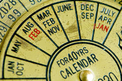 Antique calendar 2 Stock Images