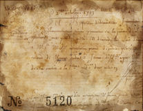 Antique caligraphy parchment Royalty Free Stock Photos