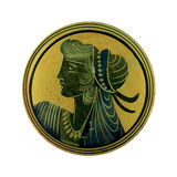 Antique cameo of greek woman. Picture of antique cameo of greek woman royalty free stock photo