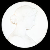 Antique cameo with ladies face Stock Images