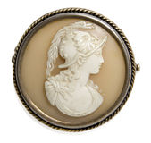 Antique cameo with mans face Royalty Free Stock Images