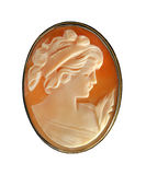 Antique Cameo Pin Stock Image