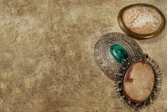 Antique cameos background Royalty Free Stock Image