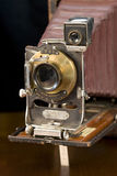 Antique Camera. An antique film camera that was commonly manufactured by Eastman Kodak between 1909 and 1912 stock images