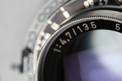 Antique camera lens Stock Photography