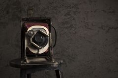Free Antique Camera On A Old Wall With Copy Space In A  Grunge Look Stock Photography - 171584132