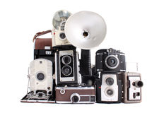 Antique cameras Royalty Free Stock Image