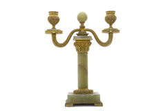 Antique Candlestick. Isolated on white background Stock Photos