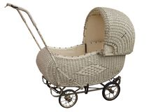 Antique Cane Pram Stock Photography