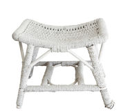 Antique Cane Stool Stock Image