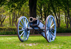 Antique cannon. In the city Flensburg, Germany Stock Photo