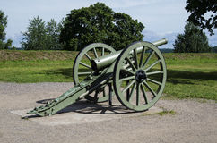 Antique cannon in Lappeenranta. Stock Photography