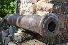Antique cannon in Lappeenranta Royalty Free Stock Images