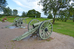 Antique cannon in Lappeenranta Stock Photography