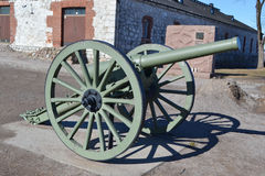 Antique cannon in Lappeenranta. Royalty Free Stock Photography