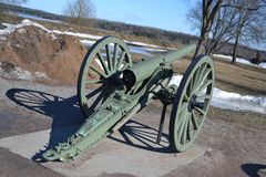 Antique cannon in Lappeenranta. Royalty Free Stock Image