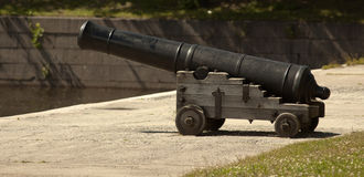 Antique cannon Stock Images