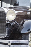 Antique Car. Close up of a shiny, black antique car Stock Photography