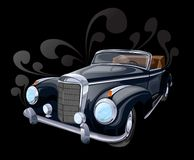 Antique Car. Retro Car Illustration On The Black Background Stock Images
