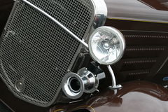 Antique Car. A close up on the headlights on a antique car Royalty Free Stock Image
