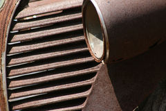 Antique car. Detail of very rusty antique car Royalty Free Stock Photography