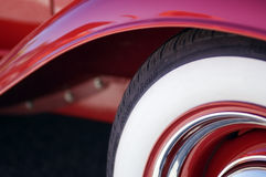 Antique car. The wheel of an antique car stock image